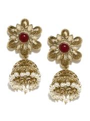 Fida Gold-Toned Jhumka Earrings