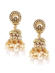 Fida Gold-Plated Jhumka Earrings