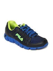 Fila Men Black & Blue Mediator Sports Shoes
