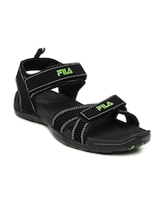Fila Men Black Avis Sports Sandals