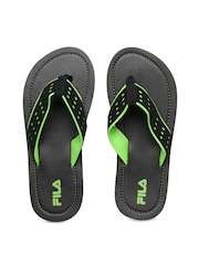 Fila Men Black Raffle Flip Flops