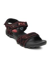 Fila Men Black Walker Sports Sandals