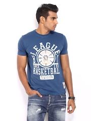 Fila Men Blue Printed T-shirt