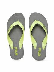 Fila Men Green & Grey Matrix Flip Flops