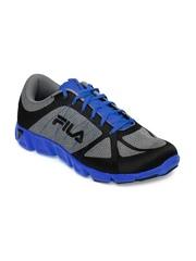 Fila Men Grey & Blue Memory Speedweave Mediator Sport Shoes