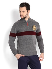 Fila Men Grey Melange Sweater