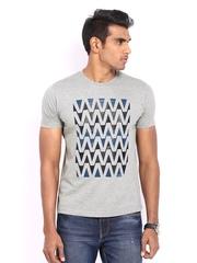 Fila Men Grey Printed T-shirt