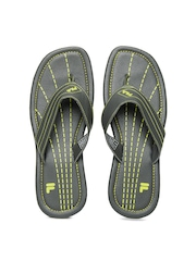 Fila Men Grey Stitch On Flip Flops