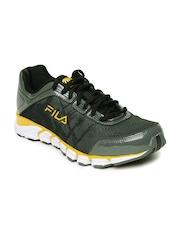 Fila Men Olive & Grey Turbo Fuel Energized Running Shoes
