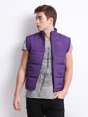 Fila Men Purple Peaks Padded Sleeveless Jacket