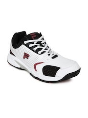 Fila Men White Turf Tennis Shoes