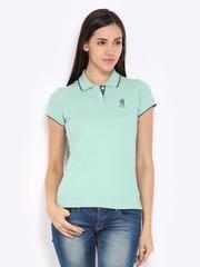 Fila Women Mint Green Chezzy Polo T-shirt