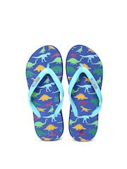 Flipside Kids Blue Printed Flip-Flops
