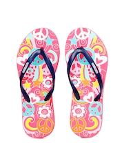 Flipside Women Pink Printed Flip Flops