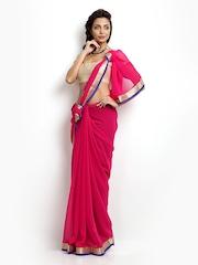 Florence Dark Pink Chiffon Saree