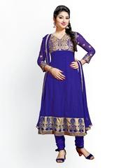 Florence Purple Georgette Unstitched Anarkali Dress Material