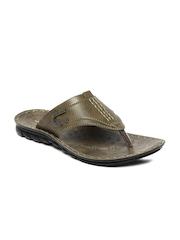 Flotter Men Olive Green Sandals Action
