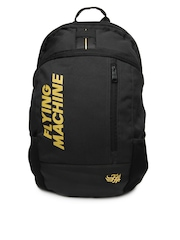 Flying Machine Men Black Backpack