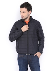 Flying Machine Men Black Padded Jacket