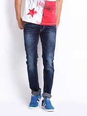 Flying Machine Men Blue Jackson Skinny Fit Jeans