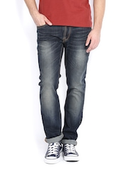 Flying Machine Men Dark Blue Jackson Skinny Fit Jeans