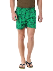 Flying Machine Men Green & Navy Boxers FMST0065
