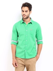 Flying Machine Men Green Casual Shirt