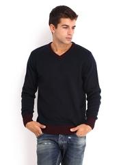 Flying Machine Men Navy Sweater