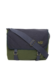 Flying Machine Men Olive Green Messenger Bag