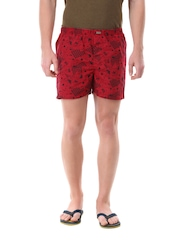 Flying Machine Men Red & Black Boxers FMST0063