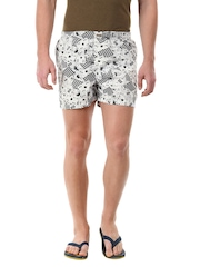 Flying Machine Men White & Black Boxers FMST0062