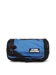 Flying Machine Unisex Black & Blue Convertible Duffle Bag