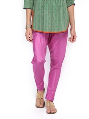 Folklore Women Purple Churidar Pants