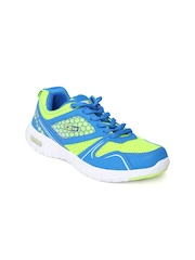 Force 10 Women Blue & Fluorescent Green Casual Shoes