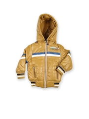 Boys Mustard Yellow Padded Hooded Jacket Fort Collins