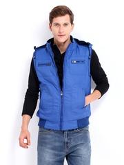 Men Blue Sleeveless Jacket Fort Collins