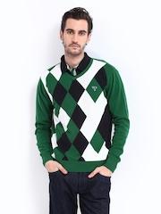Fort Collins Men Green & White Argile Sweater