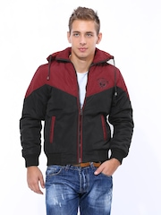 Fort Collins Men Black & Red Padded Jacket