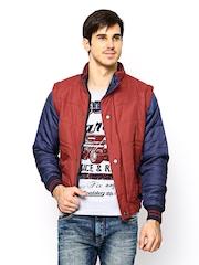 Fort Collins Men Red & Blue Jacket