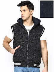 Fort Collins Men Navy & Black Reversible Jacket with Detachable Hood