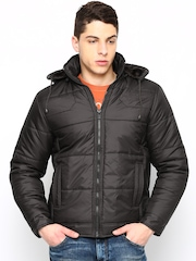 Fort Collins Men Coffee Brown Jacket with Detachable Hood