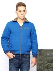 Men Blue & Olive Green Reversible Jacket Fort Collins