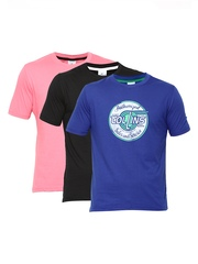 Fort Collins Men Pack of 3 Printed T-shirts