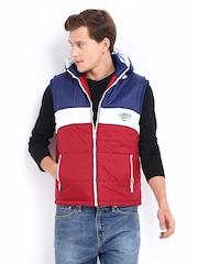 Men Red & Blue Padded Hooded Jacket Fort Collins