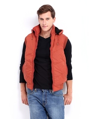 Men Rust Orange Padded Sleeveless Jacket Fort Collins