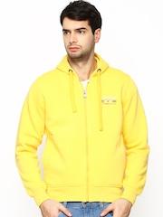 Fort Collins Men Yellow Hooded Sweatshirt