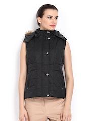 Women Black Hooded Jacket Fort Collins