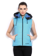 Women Blue Padded Sleeveless Jacket Fort Collins