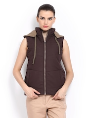 Women Brown Hooded Jacket Fort Collins