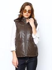 Fort Collins Women Brown Sleeveless Jacket